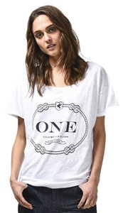 One Teaspoon Loose Fit T Shirt White