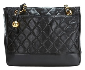 Chanel Calfskin Leather Gold Hardware Tote in Black
