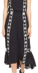Black with white embroidery Maxi Dress by Ella Moss