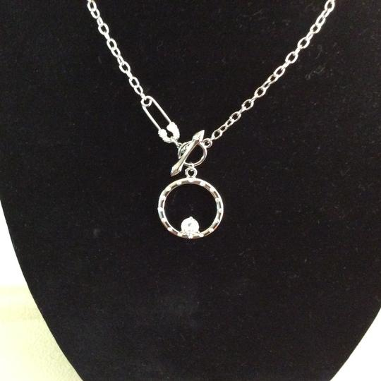 Other Round CZ Pendant Necklace with Safety Pin Clasp *sale* Image 3
