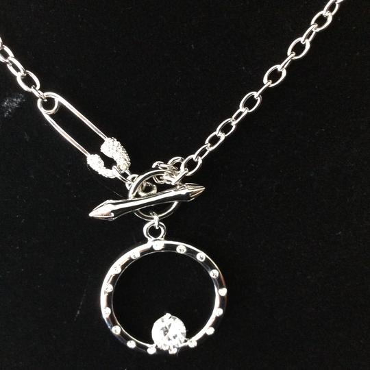 Other Round CZ Pendant Necklace with Safety Pin Clasp *sale* Image 5