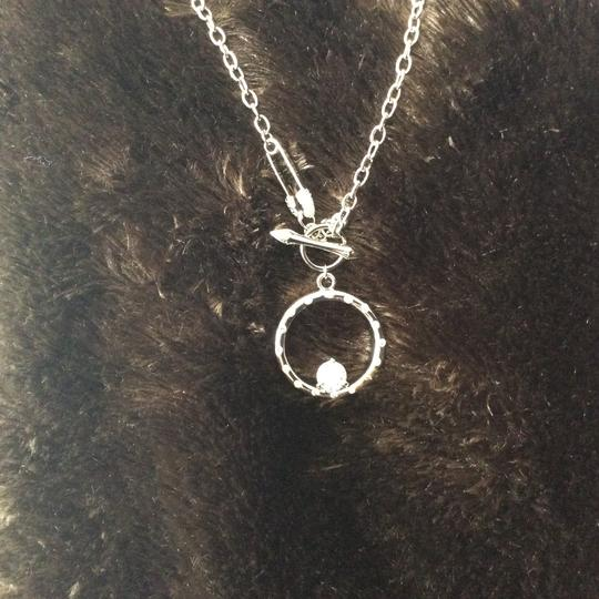 Other Round CZ Pendant Necklace with Safety Pin Clasp *sale* Image 8