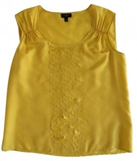 Talbots Petite Silk Top yellow