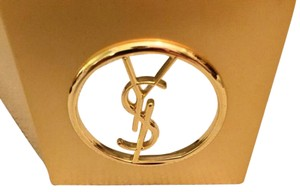 Saint Laurent Yves Saint Laurent YSL signature Gold Pocket Mirror