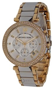 Michael Kors NEW WOMENS MICHAEL KORS (MK5687) PARKER SILVER GOLD DIAL WATCH
