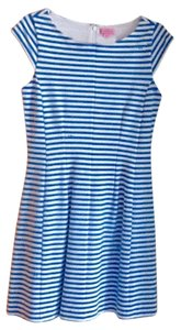 Lilly Pulitzer short dress blue and white Nautical Striped on Tradesy