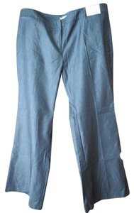 New York & Company Petite Cotton With Tags Flare Pants Denim Blue