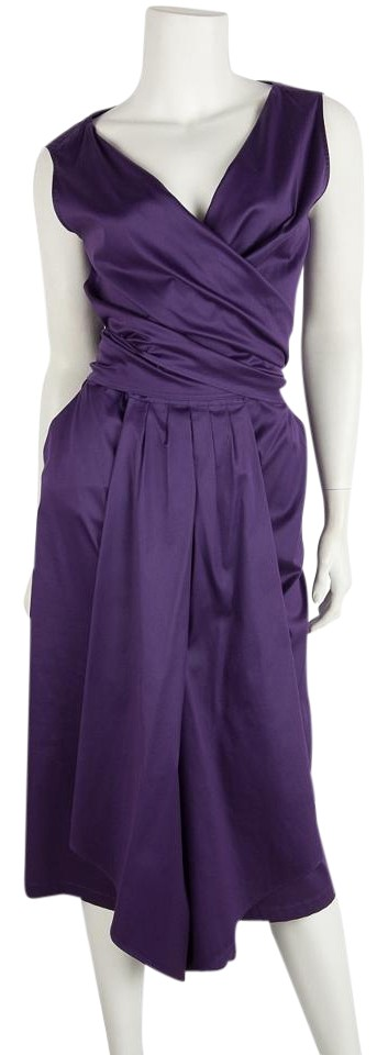 Max Cocktail Top Cotton Dress Wrap Sleeveless Mara Purple rna1WxqrY