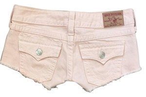 True Religion Cut Off Shorts Peach Denim