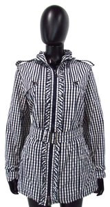 Concept K Gingham Print Blue and White Jacket
