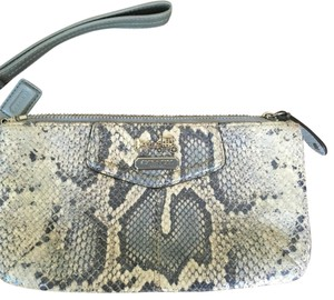 Coach Wristlet in Blue/grey/cream