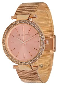 Michael Kors NEW WOMENS MICHAEL KORS (MK3369) ROSE GOLD DARCI MESH GLITZ DIAL WATCH