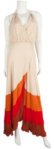 Tan and Red Maxi Dress by Haute Hippie