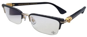 Chrome Hearts CHROME HEARTS Eyeglasses SUGAR WALLS MBK/GP-BK-P 54-19 Black & Gold