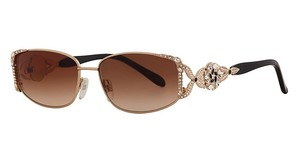 Caviar Eyewear CAVIAR 5597 Sunglasses Gold Brown (C21) Crystal Stones Authentic