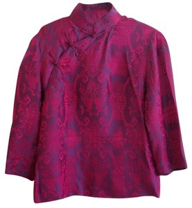 Shanghai Tang Qipao Style Special Occasion Top Purple