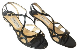 Jimmy Choo Patent Leather Sandal Black Pumps