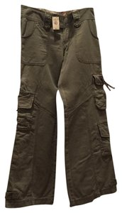 Abercrombie & Fitch Cargo Flare Cargo Pants Olive Green