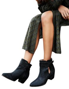 Free People Leather Ankle Black Boots