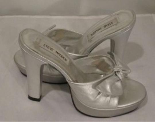 Steve Madden Summer Night Out Date Night Formal Silver Sandals