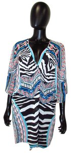 Express Patterned Wrap Top Multi-Color