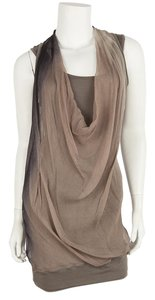 Brunello Cucinelli short dress Gray & Taupe on Tradesy