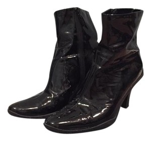 Me Too Faux Patent Winter Black Boots