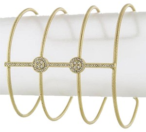 Other Crystal Lined Wide Cuff [SHIPS NEXT DAY]