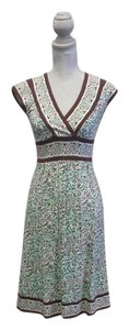 BCBGMAXAZRIA short dress Mint and Brown Bcbg Max Azria Knit Floral on Tradesy