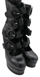 GUIDO SGARIGLIA Scargilia Multi Buckle Black Boots