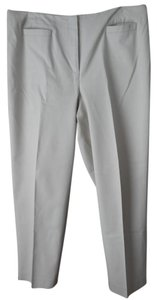 Talbots Size 16 Petite Cotton Blend Flat Front Style Welt Pockets Office To Casual Trouser Pants Cream