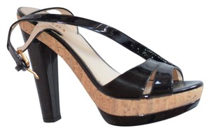 Prada Platform Black patent leather Sandals