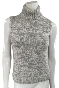 Michael Kors Turtleneck Sleeveless Ribbed High Neck Fall Sweater