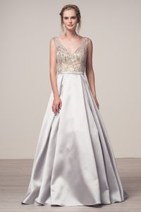 Bicici & Coty V-neck Ball Gown A-line Dress