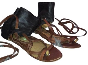 L.A.M.B. Black and brown Sandals