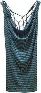 bebe Top Blue & Grey
