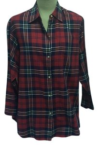 Emanuel Ungaro Top Red plaid