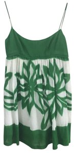 MILLY short dress Green and White on Tradesy