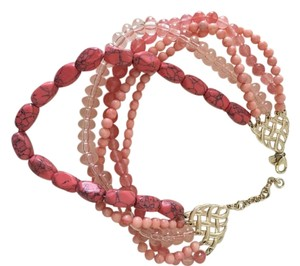 Banana Republic Banana Republic Coral beaded necklace