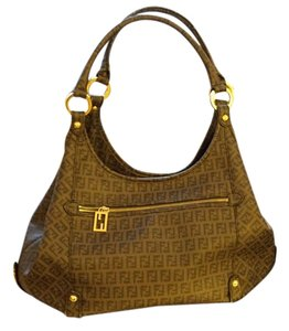 Fendi Monogram Canvas Designer Shoulder Bag