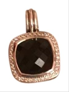 David Yurman 14mm Onyx and Diamond Albion Pendant