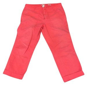 J.Crew Capri/Cropped Pants Bright coral