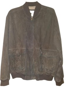 Barry Bricken Mens Suede Bomber Motorcycle Jacket