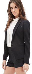 Forever 21 Dressy Leather Suit Black Blazer