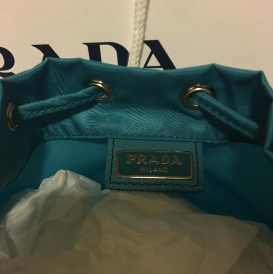 Prada BRAND NEW! Nylon Drawstring Cosmetic Makeup Bag Image 2