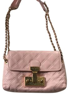 Marc Jacobs Lambskin Quilted Crossbody Pink Shoulder Bag