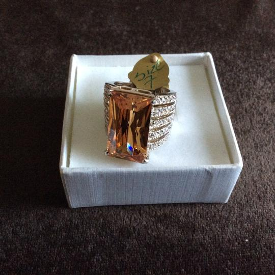 Other Light Champagne CZ Oversized Cocktail Ring [SHIPS NEXT DAY] Image 3