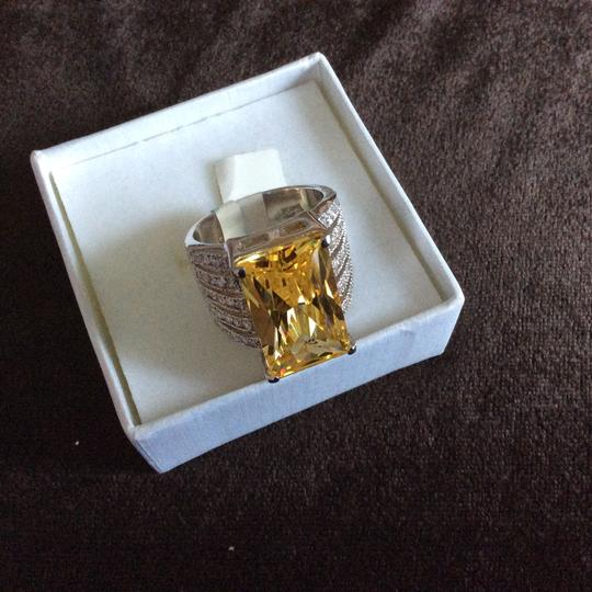 Other Light Champagne CZ Oversized Cocktail Ring [SHIPS NEXT DAY] Image 4