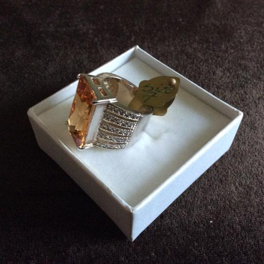 Other Light Champagne CZ Oversized Cocktail Ring [SHIPS NEXT DAY] Image 5