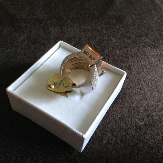 Other Light Champagne CZ Oversized Cocktail Ring [SHIPS NEXT DAY] Image 6